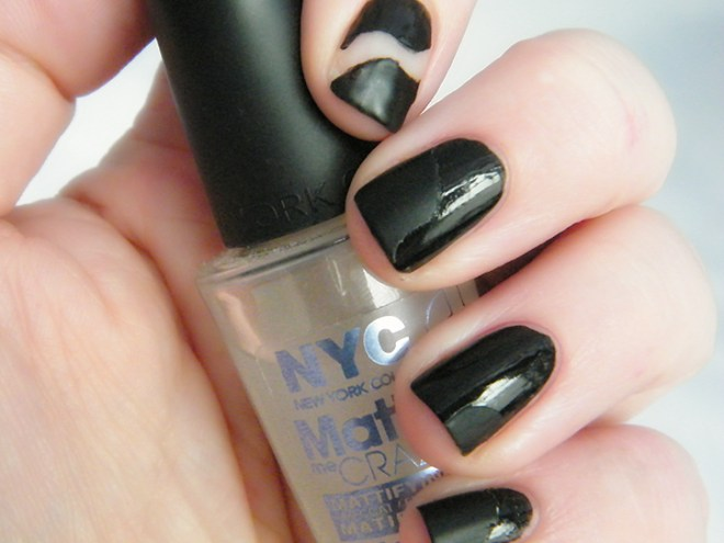 Black Nail Polish Matte Negative Space #CBBOctNails