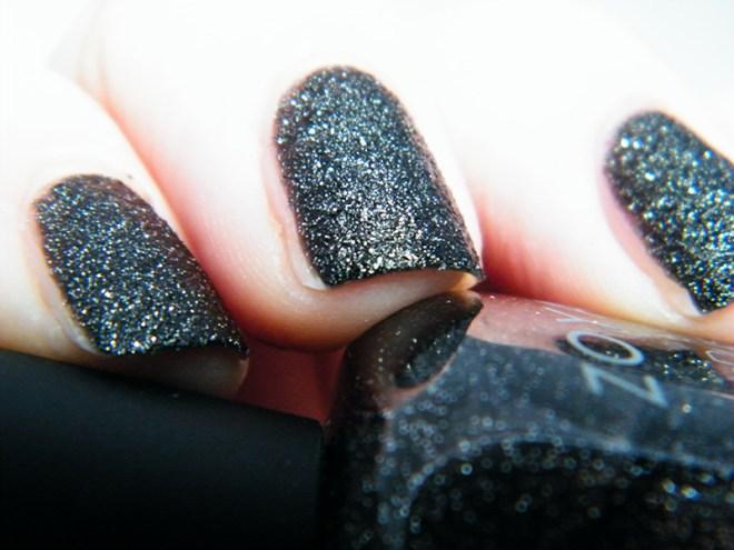 Zoya Dahlia PixieDust Black Nail Polish Swatch CBBOCtNails Day 1