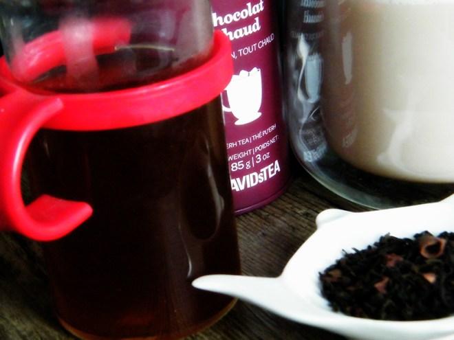 Davids Tea Hot Chocolte Tea Brewed