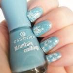 Essence Mountain Calling Blue Snow Nail Art
