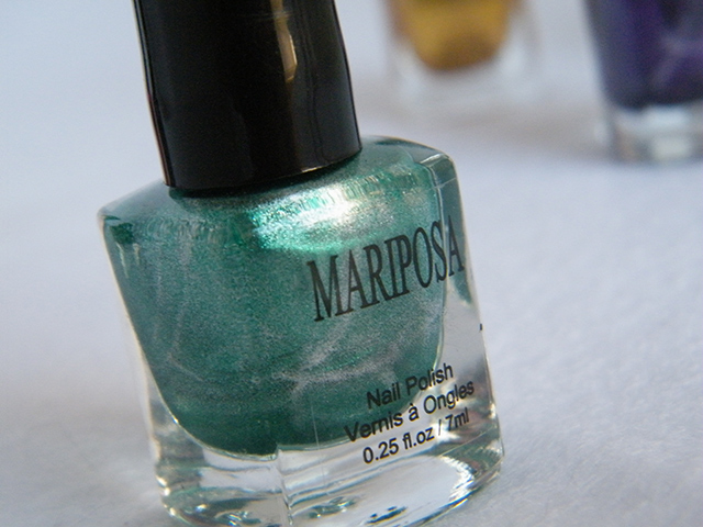 Mariposa Nail Polish Foils Dollarama Green Polish Bottle