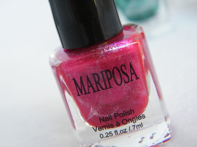 Mariposa Nail Polish Foils Dollarama Pink Polish Bottle