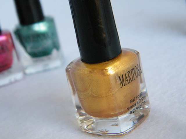 Mariposa Nail Polish Foils Dollarama yellow Polish Bottle