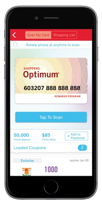 Shoppers Drug Mart Optimum App