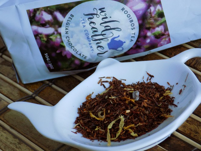 Wild Heather Belgian Chocolate Rooibos Tea Review Bag Loose