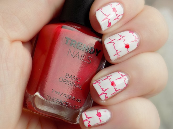 Valentines Nail Art - My Heart Beats For You