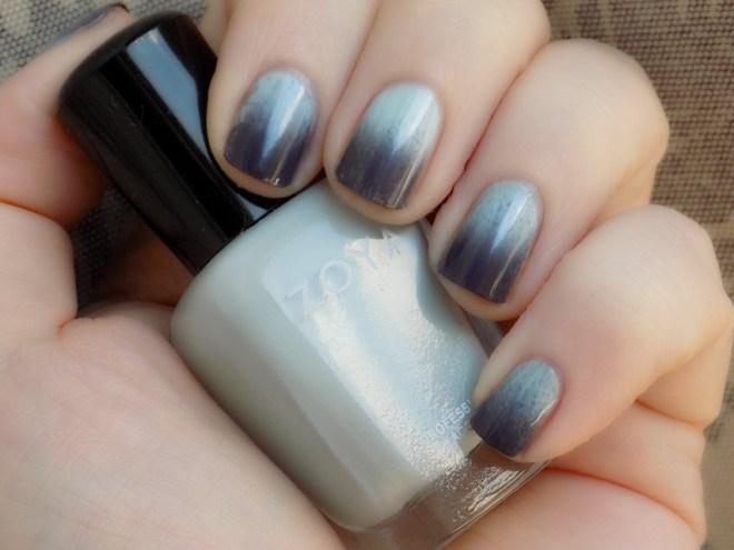 Zoya Lake with Zoya Kelly Gradient Nails