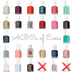 ABCs of Essie Alphabetical List of Essie Polishes for alphabet nails