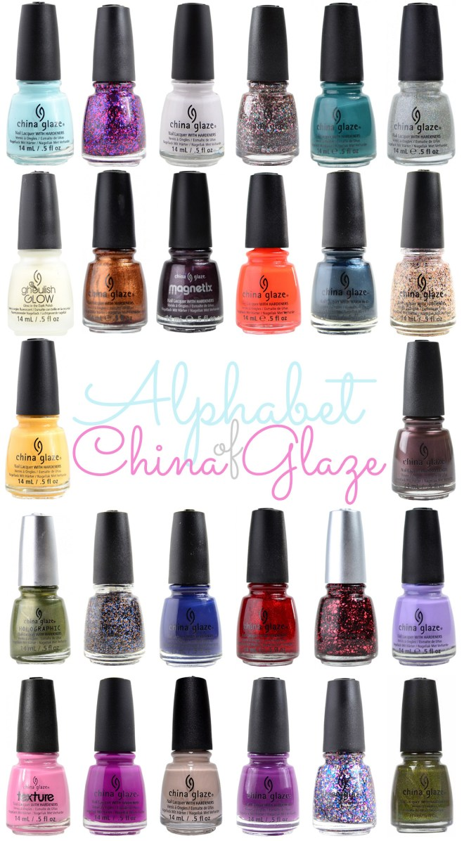 China Glaze Alphabetical List of Polishes A-Z