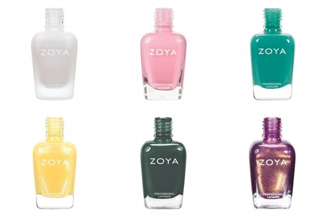 Zoya Nail Polishes starting with letters ABCDEF