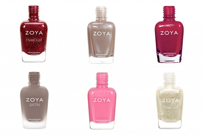 Zoya Nail Polishes Starting with letters O-T