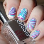 Essie Silk Watercolor Water Marble Nail Art
