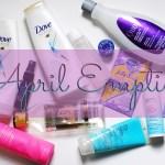 My April Empties