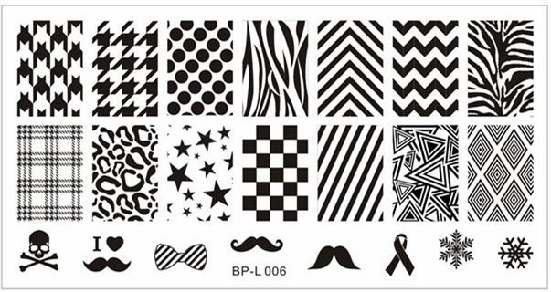 Born Pretty BP-L006 stamp plate