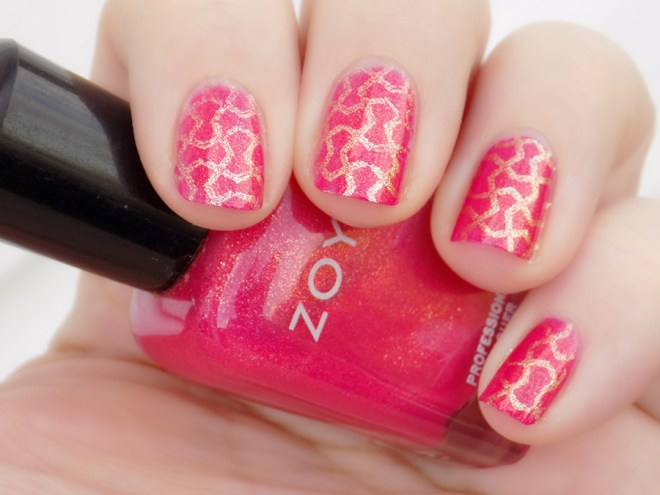 Zoya Kimber Stamped Rica The Golden Egg Polish