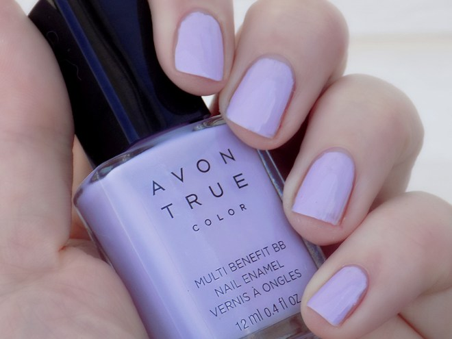 Avon True Color BB Nail Enamel Lilac Love Swatch Shade