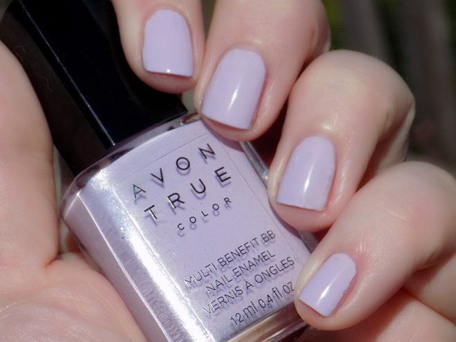 Avon True Color BB Nail Enamel Lilac Love Swatch Sunlight