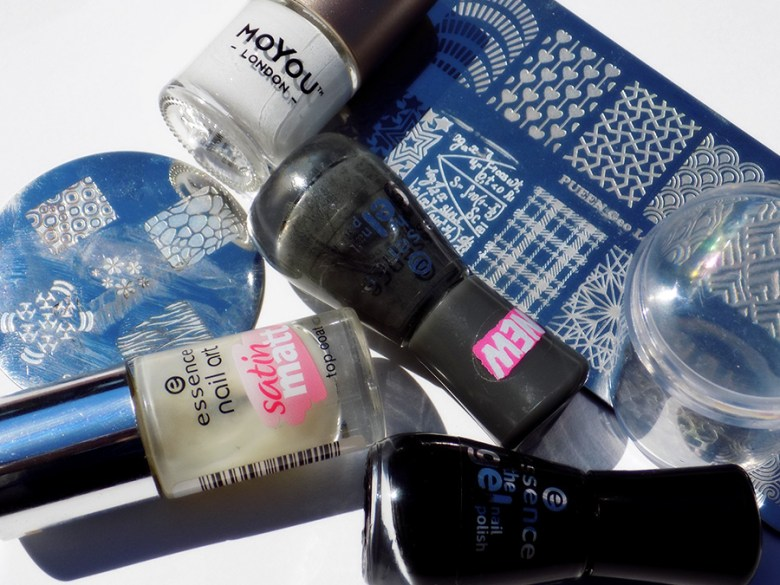 Back to School Essence Stamped Chalkboard Scientific Equation Nailart Supplies