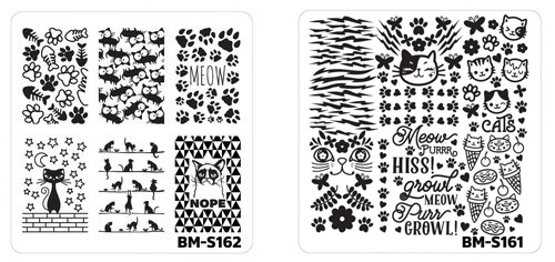 Bundle Monster Cat Themed Stamping Plate