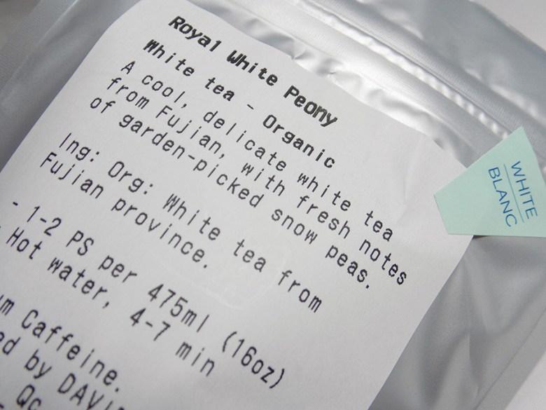 DavidsTea Royal White Peony Tea Davids Tea Review - Ingredients