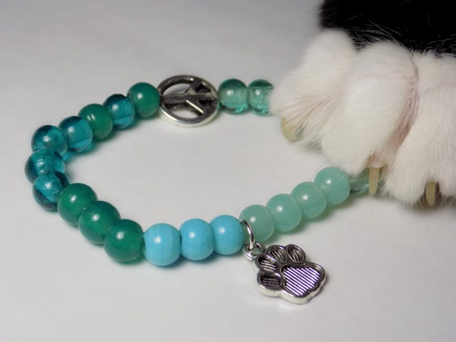 Kitties and Cabernet Paw Bracelet Jazzy