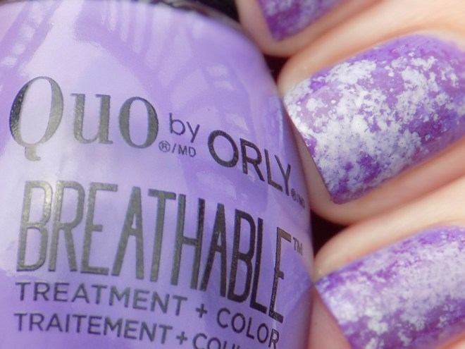 Quo by Orly Breathable Swatch Closeup Feeling Free Nail Art with Pick Me Up and Power Packed
