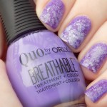 Quo by Orly Breathable Swatch Feeling Free Nail Art with Pick Me Up and Power Packed