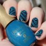 Quo by Orly Color Ampd Rooftop Lounge Swatch Stamping Pueen Fancy Lover Watermarble Stamping Image