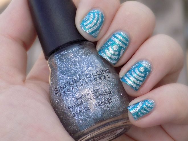 Sinful Colors Queen of Beauty over Quo Turquoise Moonlight Swatch Shade