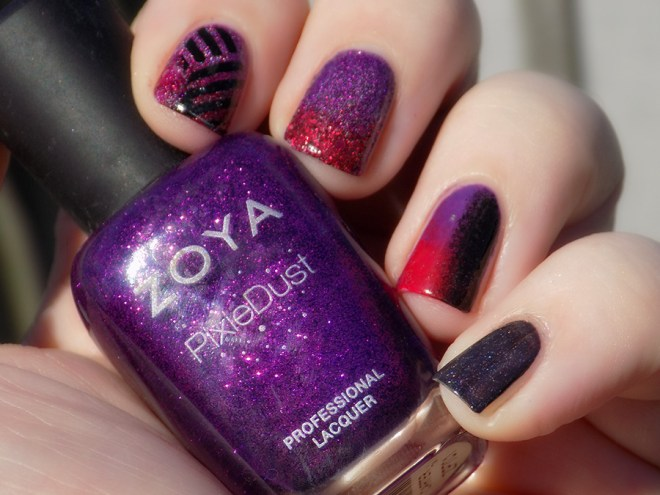 When Colours Collide Red Purple Black No Stamping 2