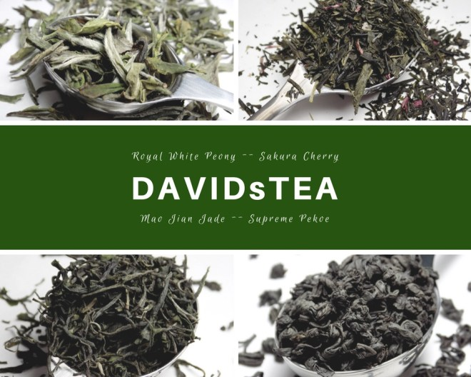 DavidsTea Garden To Cup collection Davids Tea Review - Royal White Peony, Sakura Cherry, Mao Jian Jade, Supreme Pekoe