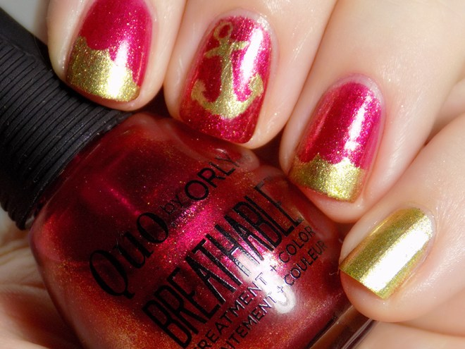 Quo by Orly Breathable Stronger Than Ever Swatch with Rica The Golden Egg & Joy and Polish vinyls