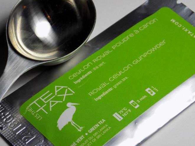 Tea Taxi Generation Envelope Royal Ceylon Gunpowder Tea Sample Packaging
