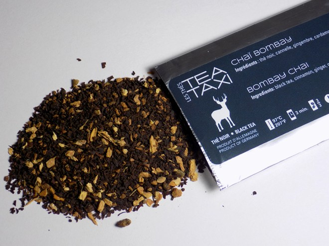 Tea Taxi Subscription Sample - Bombay Chai Tea with Packaging