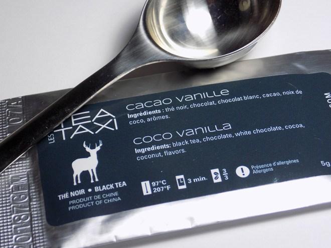 Tea Taxi Subscription Sample - Coco Vanilla Tea Packaging