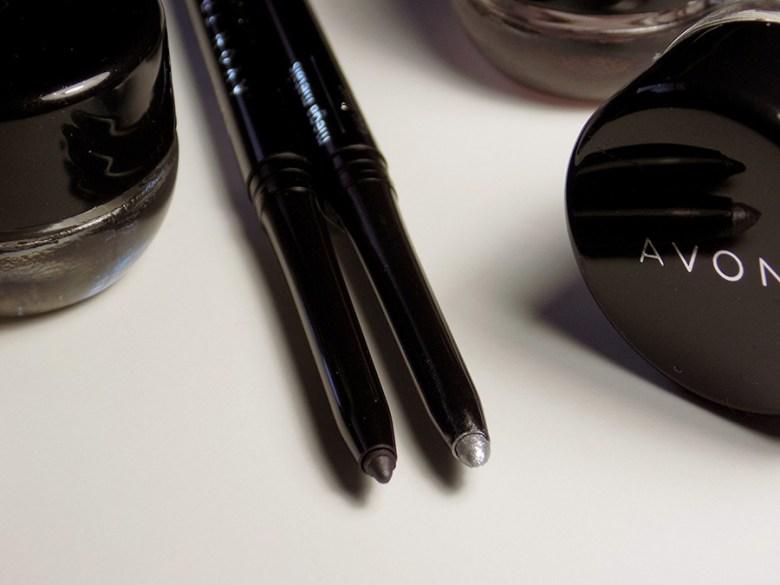 Avon Mega Metals - Metal Mania Eyeliners True Color Smoky Grey and Chrome Metallic
