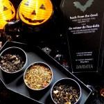 DavidsTea Halloween Teas - 2016 Back From The Dead Halloween Coffin Teas - Swampwater, Stormy Night, Maple Sugar