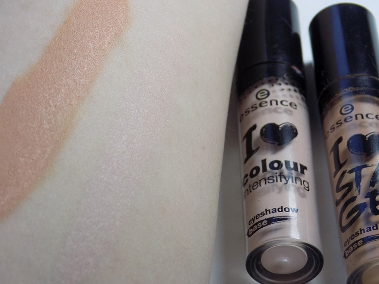 Essence I Love Stage Eyeshadow Base Comparison I Love Colour Intensifying Eyeshadow Base