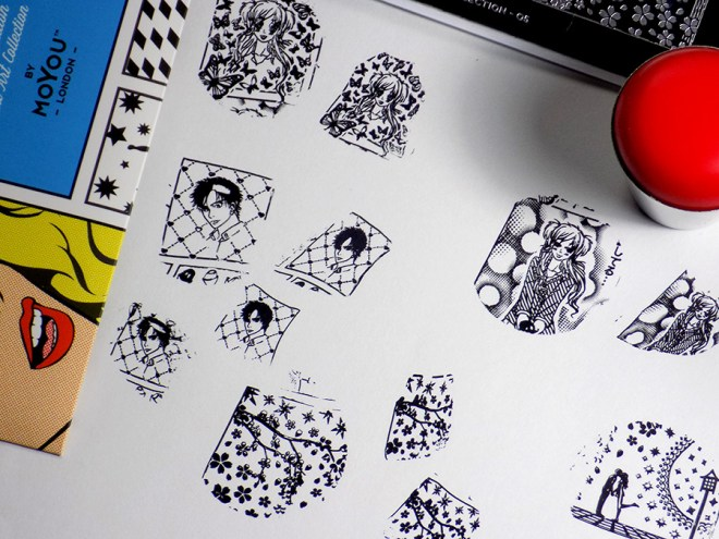 How To Shrink Nail Stamping Images - MoYou Comics 05 Stamping Plate Swatches