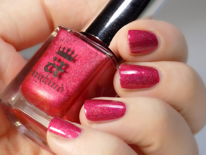 A England - Shall Be My Queen Indoor Light Swatches and Review - Tennysons Romance Collection
