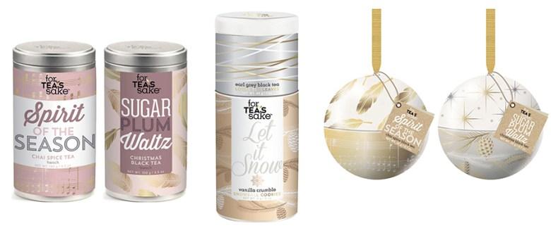 For Tea's Sake Holiday 2016 Tea Gift Sets - Sugar Plum Waltz, Spirit of the Season, Let it Snow - Chapters-Indigo