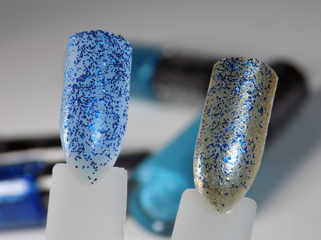 Hard Candy Jingle Nails - Blues Swatches - Blue Glitter