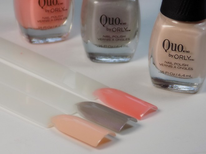 Quo by Orly Perfectly Painted Nail Polish Collection - Neutrals Swatches and Bottles