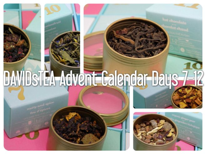 DavidsTea 2016 Advent Calendar Days 7-12