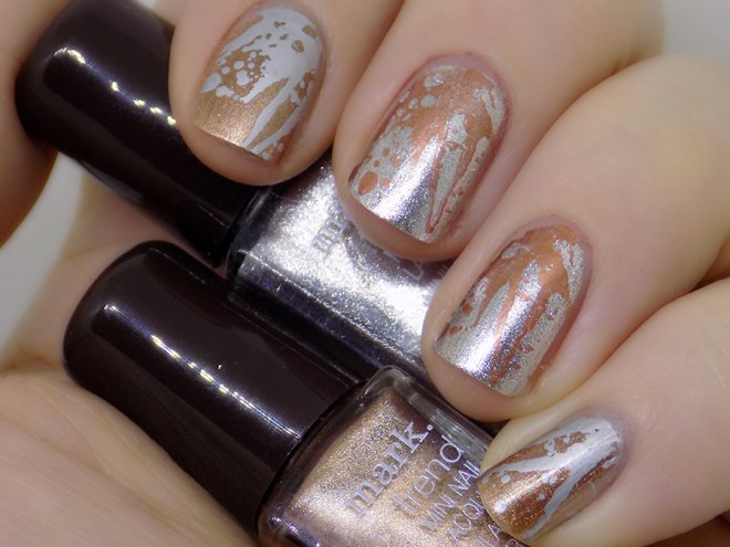 Mark by Avon Totally Nailed It Silver Swoon and Foiled Again Set and Swatches Nailart Stamping Mdu