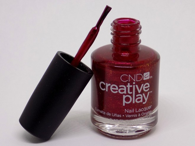 CND Creative Play - Crimson Like It Hot Review and Swatches - Brush