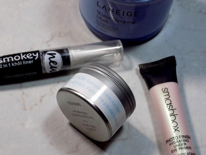 DavidsTea The Glow Review - DavidsTea Resolutions Beauty Rest - Smashbox Primer, Essence Kohl White Liner and Laneige Sleep Mask