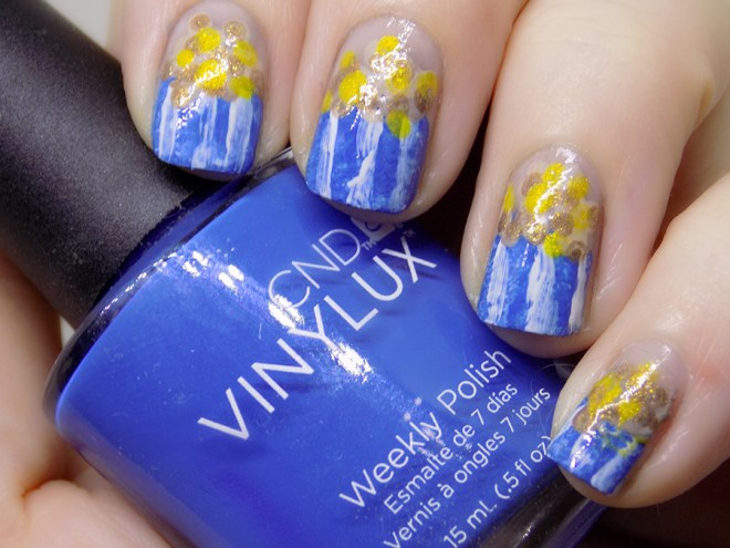 Popcorn Day Nails - CND Vinylux Date Night