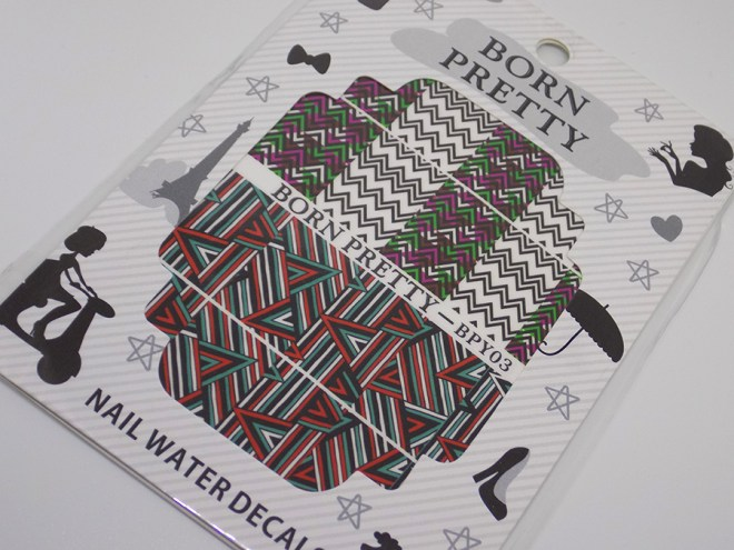 BPY03 Decals - Turquoise Green - Red - Black Geometric Water Decals Full Set