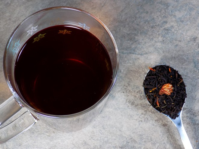 Bulk Barn Black Currant Black Loose Tea Review - Brewed and Spoon of Loose Tea